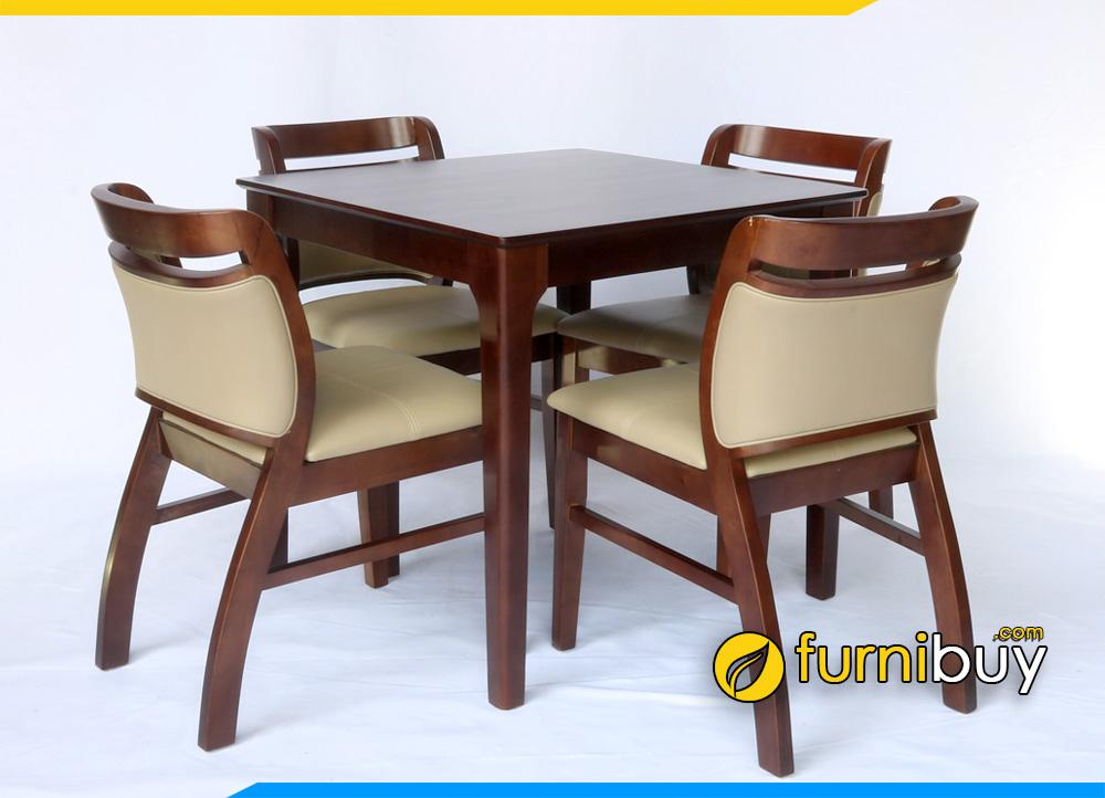 Bộ Bàn ăn vuông 4 ghế kích thước 80x80cm