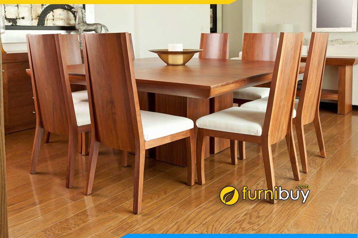 Hình ảnh Bộ bàn ăn vuông 8 ghế hiện đại đẹp