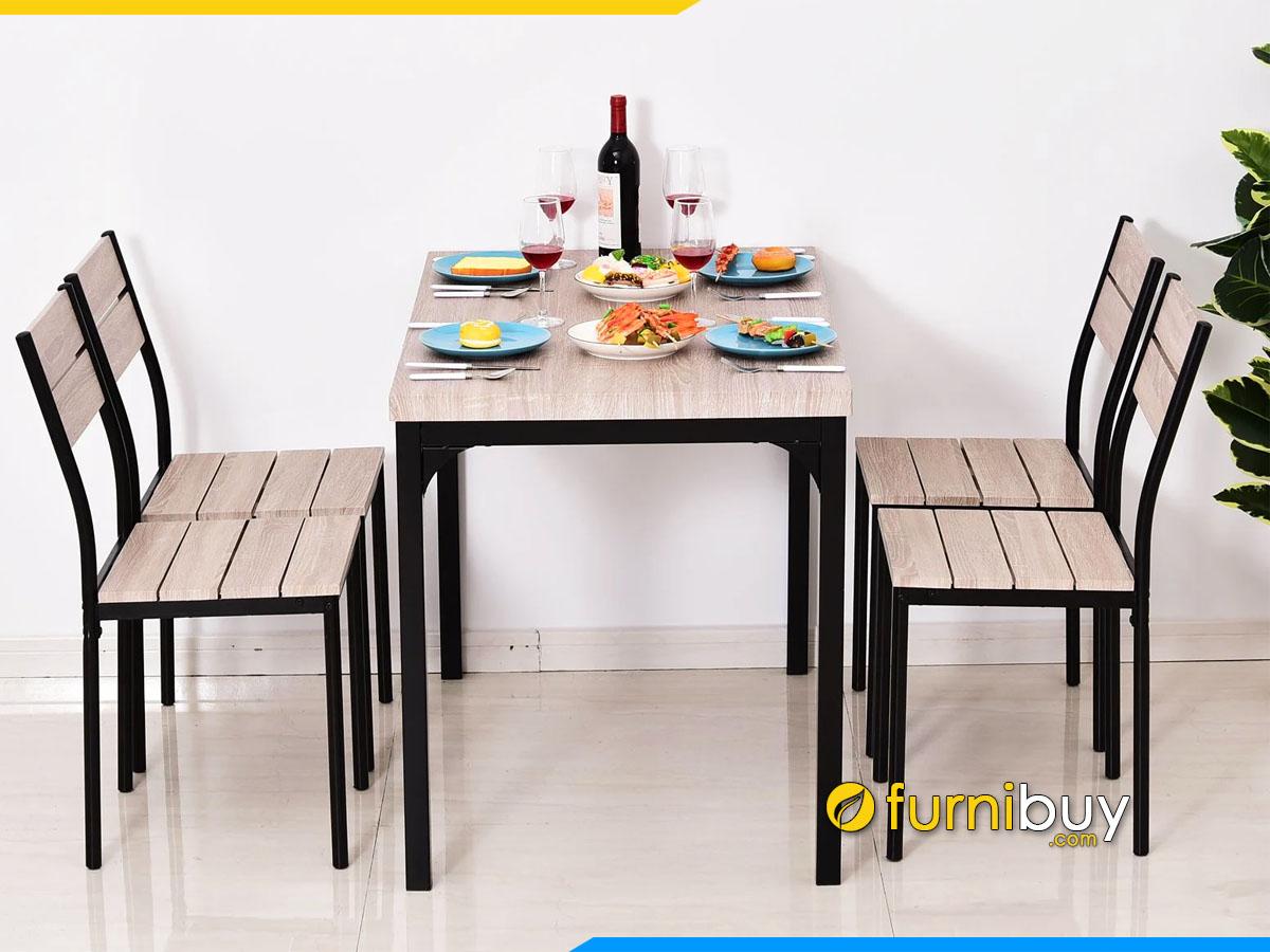 Hình ảnh bộ bàn ghế ăn 4 chỗ cho quán ăn, cafe