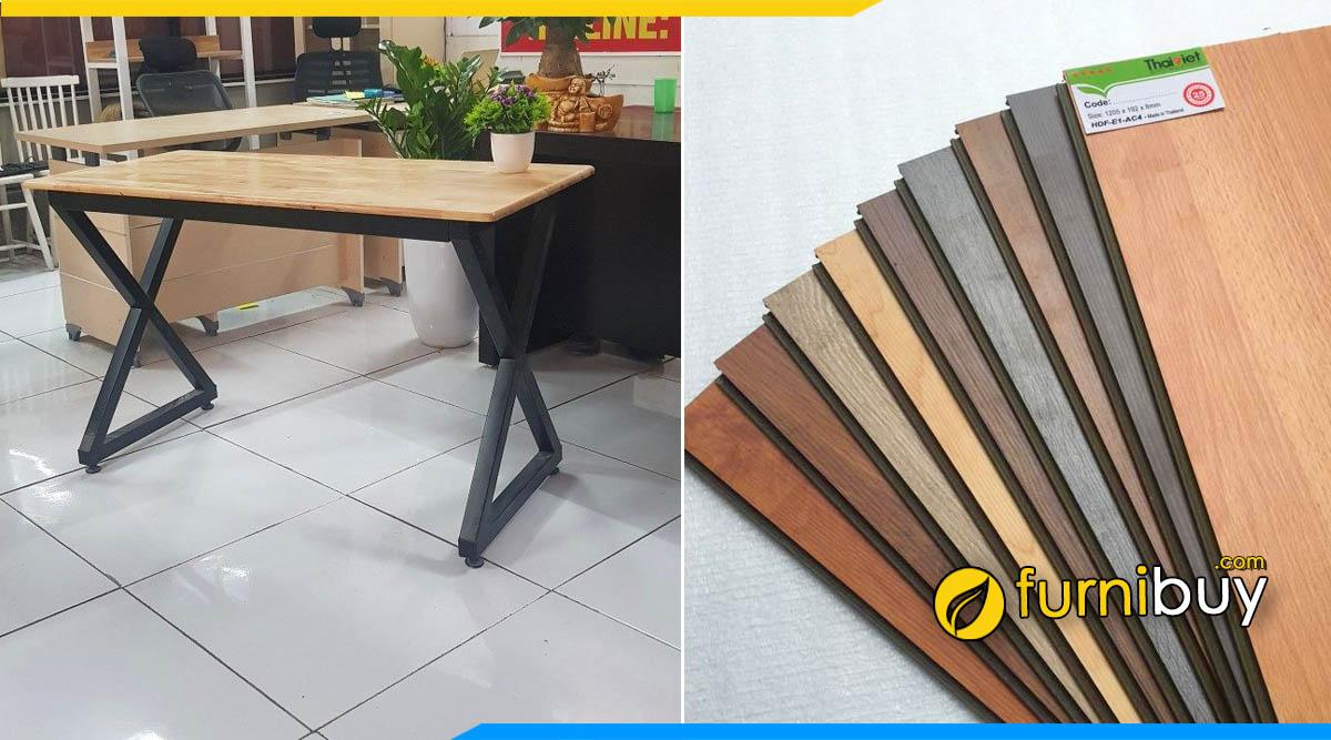 Hình ảnh bộ bàn ghế ăn chân sắt giá rẻ gỗ công nghiệp đẹp