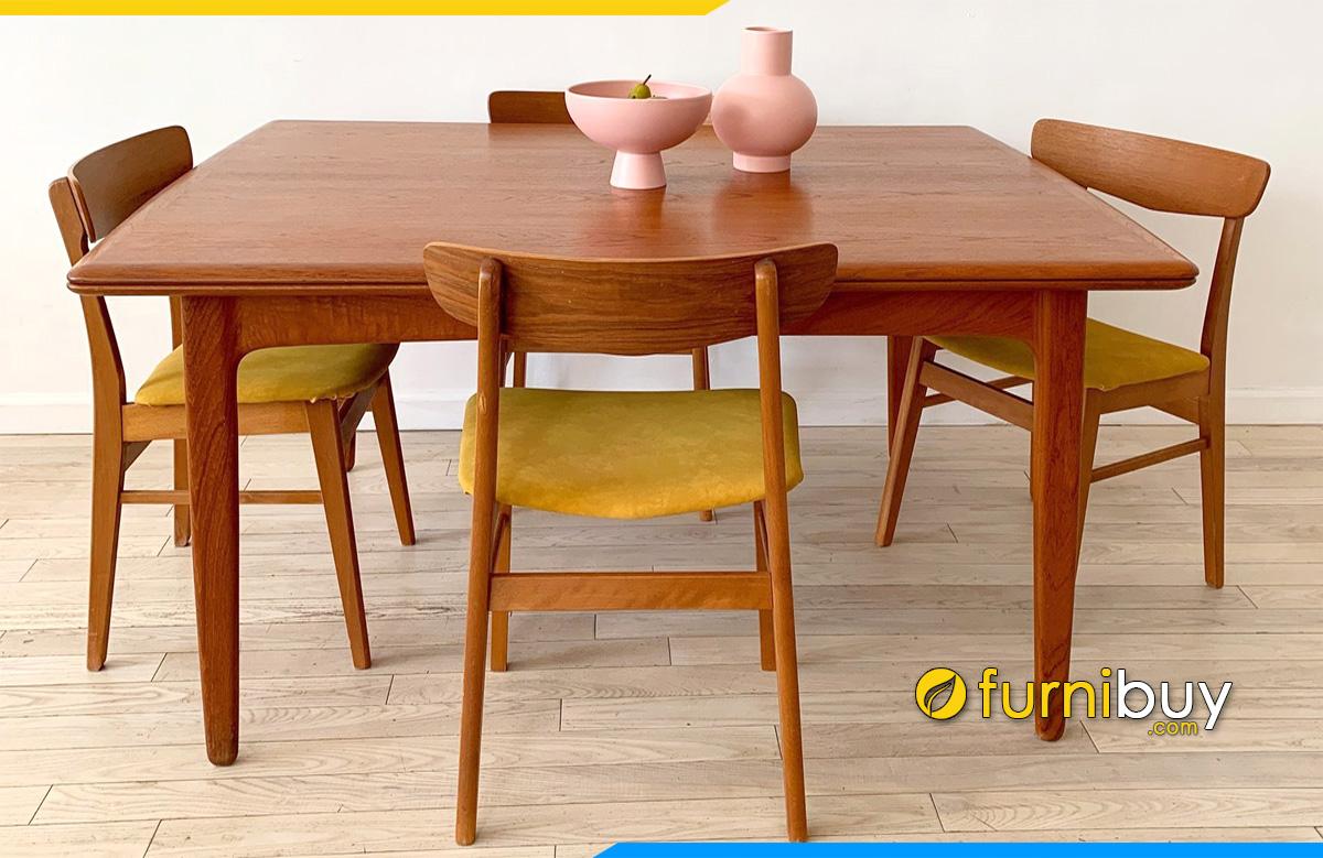 Hình ảnh bộ bàn ăn 4 ghế cho chung cư đẹp cao cấp