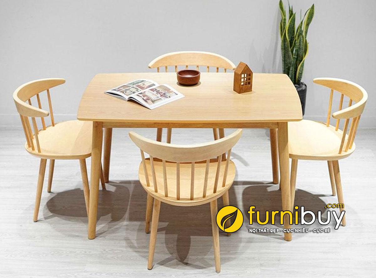 Bộ bàn ăn 4 ghế hiện đại BA043 phong cách Bắc Âu