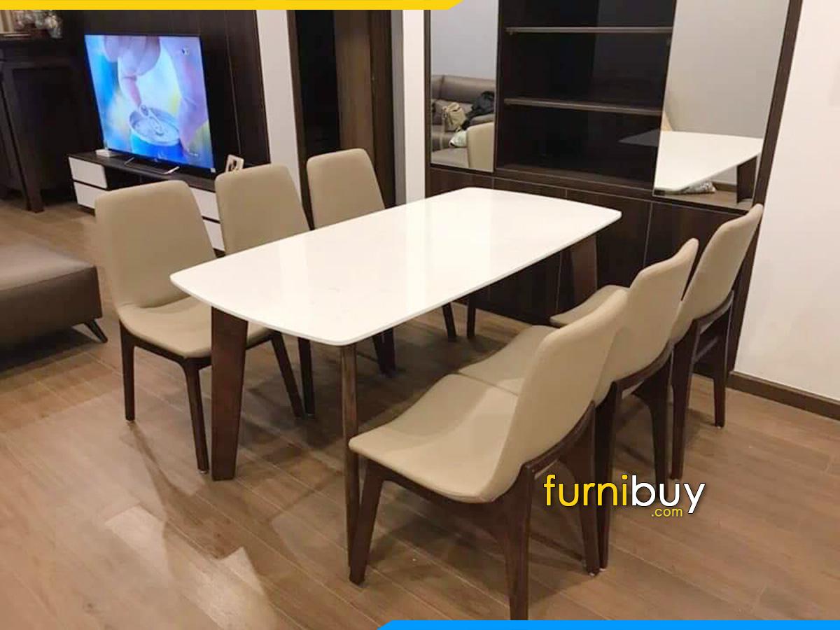 bộ bàn ăn 6 ghế bọc nệm đẹp giá rẻ