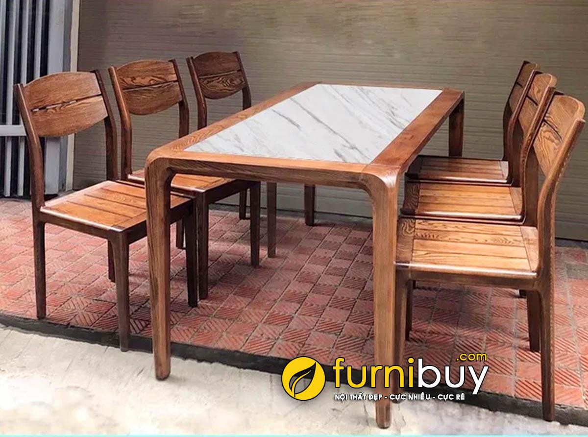 Hình ảnh bộ bàn ăn 6 ghế mặt đá BA039