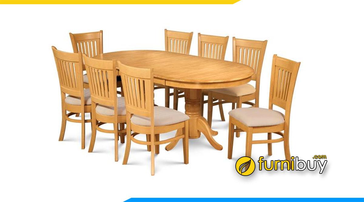Hình ảnh Bộ bàn ăn 8 ghế bầu dục cho phòng bếp rộng rãi