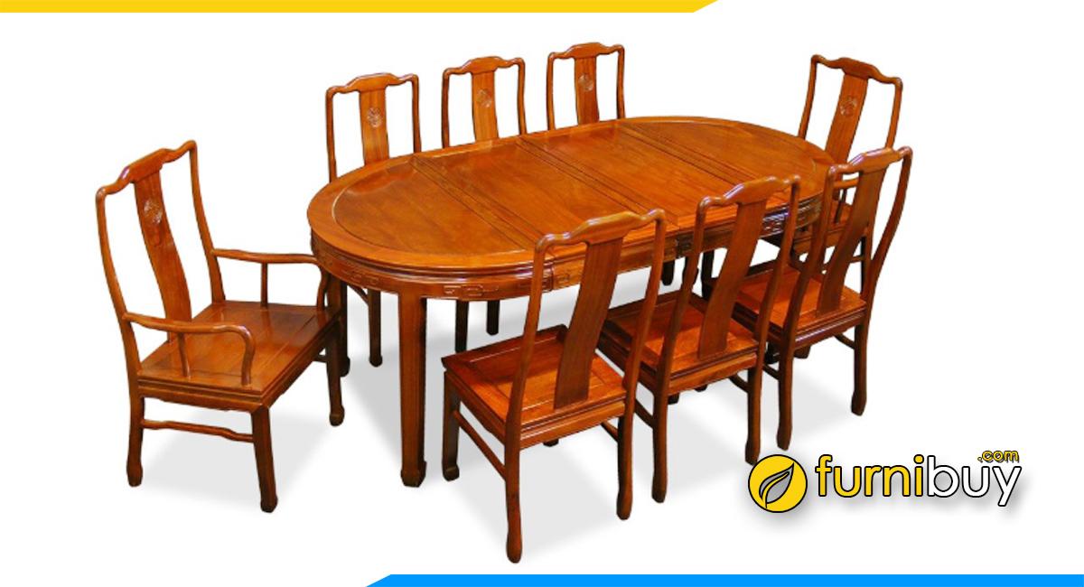 Hình ảnh Bộ bàn ăn 8 ghế gỗ hương đá cao cấp