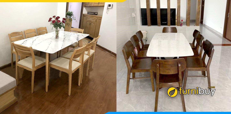 Hình ảnh Bộ bàn ăn 8 ghế mango đẹp giá rẻ