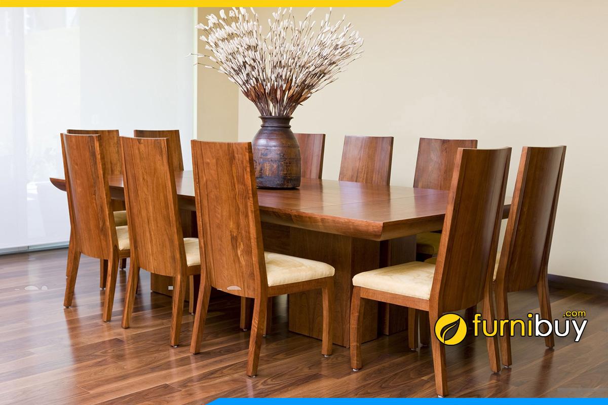 Hình ảnh Bộ bàn ăn chữ nhật 10 ghế sang trọng