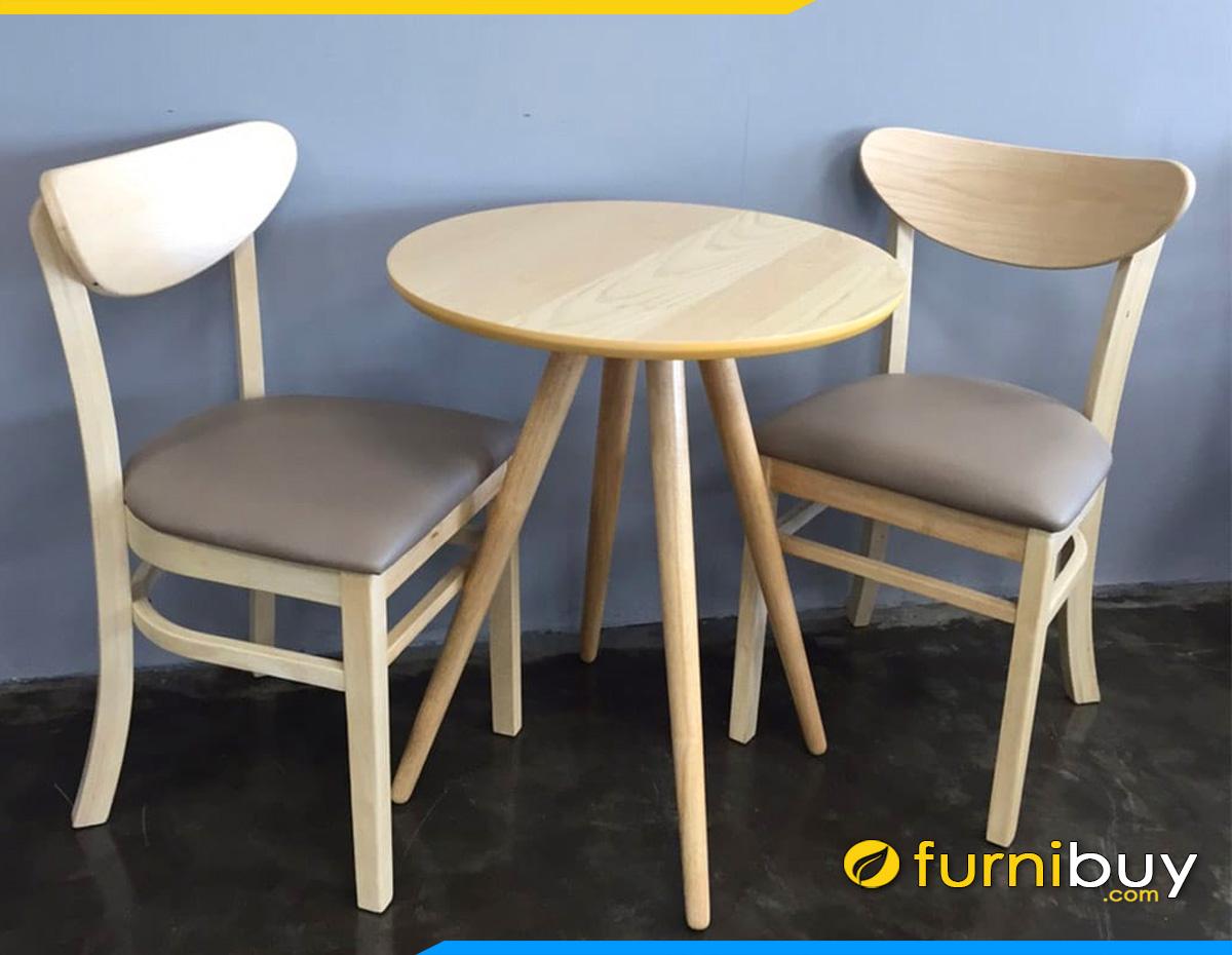 Bộ bàn ghế ăn 2 người hình tròn đẹp giá rẻ