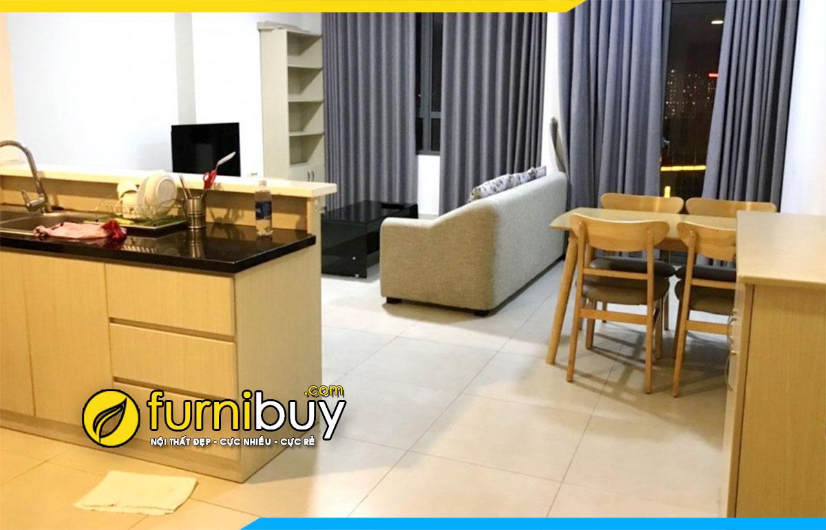 Hình ảnh Bộ bàn ghế ăn đẹp cho chung cư hiện đại