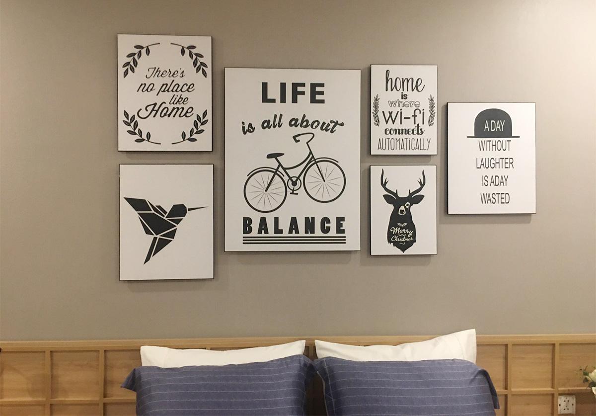 Hình ảnh Bộ tranh ghép bộ nhiều tấm treo phòng ngủ đẹp