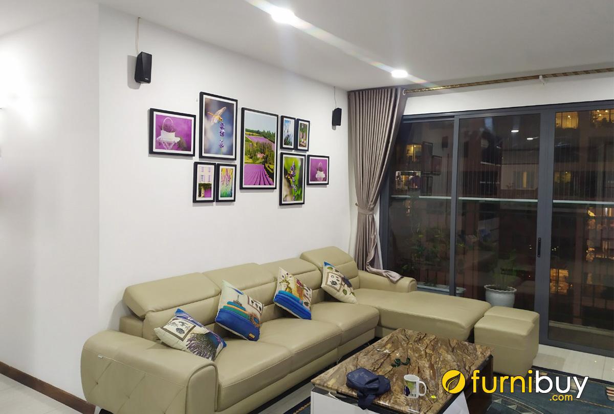 Hình ảnh Bộ tranh hoa ghép bộ trang trí phòng khách nhà chung cư
