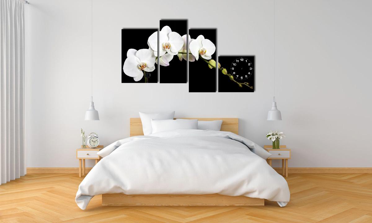 Hình ảnh Bức tranh nhành hoa lan trắng treo phòng ngủ đẹp mã 199