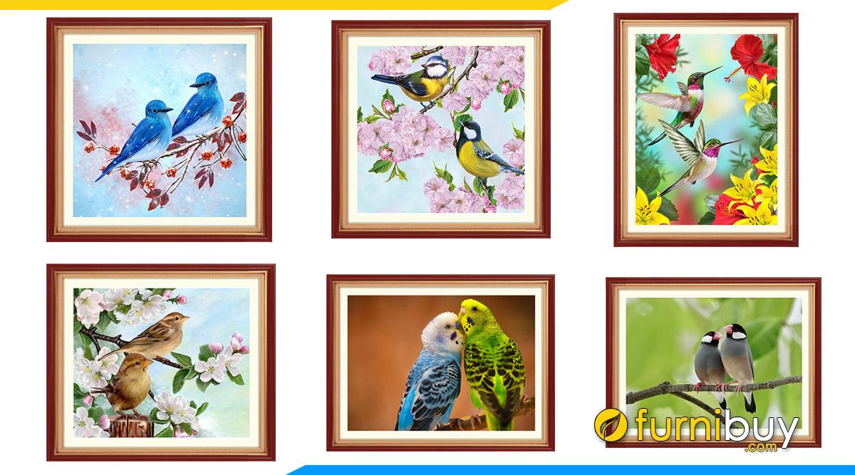 Hình ảnh Các mẫu tranh đôi chim gtreo phòng ngủ vợ chồng mới cưới