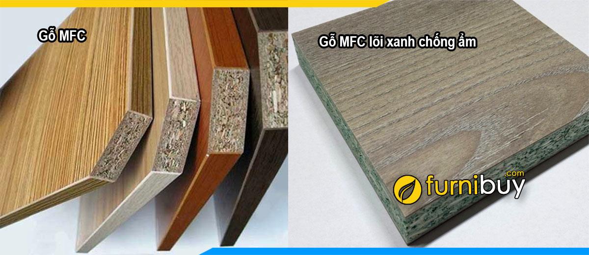 Hình ảnh Chất liệu gỗ MFC đóng kệ tivi hiện nay