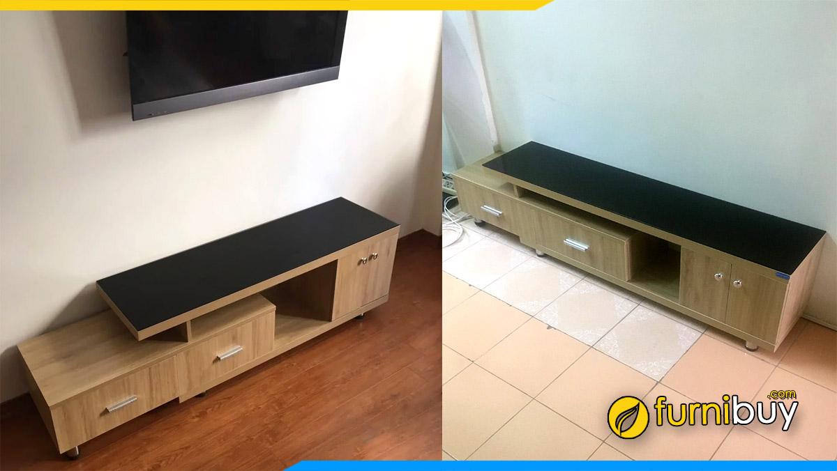 Hình ảnh Kệ tivi gỗ đẹp phòng khách kích thước 1m6 kéo 2m2