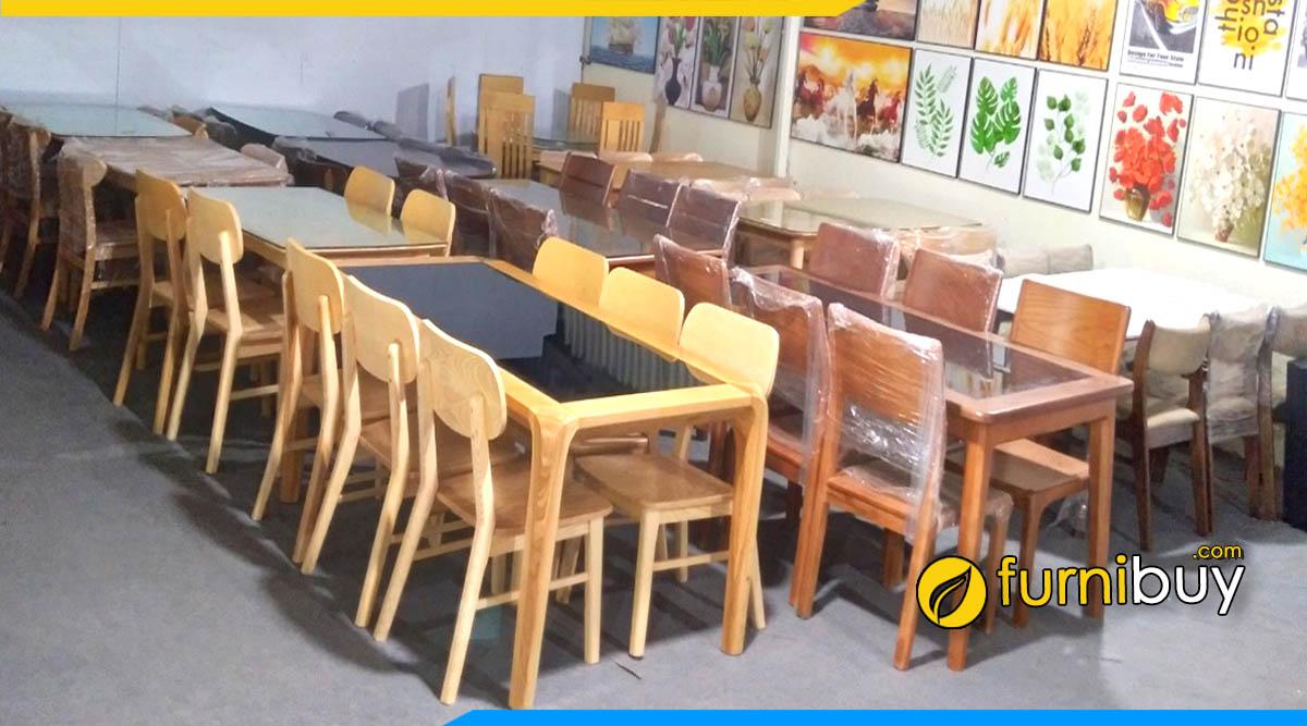 Địa chỉ bán bàn ghế ăn tại Hà Nội furnibuy 100 mẫu sẵn thực tế