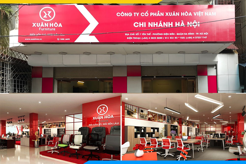 Dia chi showroom noi that van phong xuan hoa o ha noi