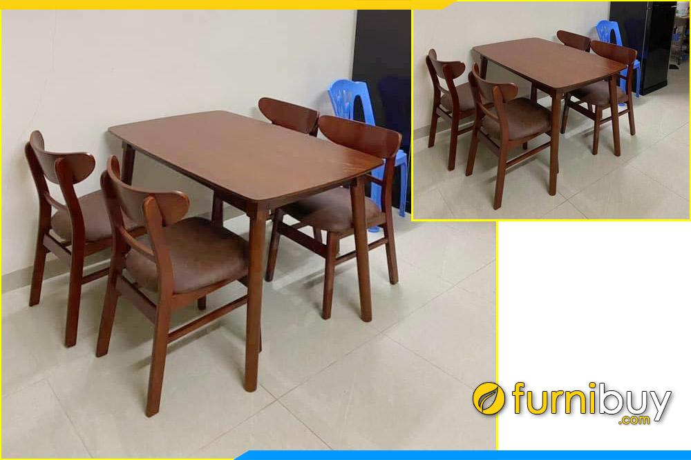Furnibuy giao bộ bàn ăn 4 ghế chung cư 1m2 cho nhà chị Huyền ở Hoàng Quốc Việt