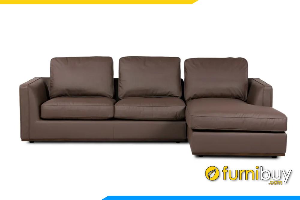 Hình ảnh ghế sofa góc chất liệu da cao cấp FB20152