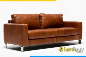 Ghế sofa được bọc chất liệu da cao cấp, giúp chống thấm nước dễ dàng vệ sinh bề mặt ghế khi bị bẩn