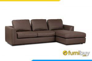 Ghế sofa góc FB20152 được bọc chất liệu da cao cấp có độ bền cao, chống thấm nước tốt