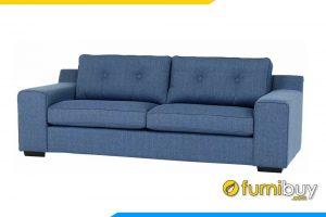 Ghế sofa được bọc nỉ với màu xanh nhã nhặn, trẻ trung