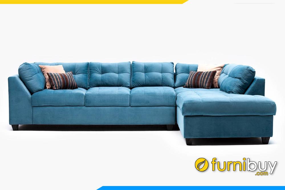 Bộ ghế sofa nỉ FB20158 được thiết kế kiểu dáng hiện đại rất bắt mắt và cuốn hút