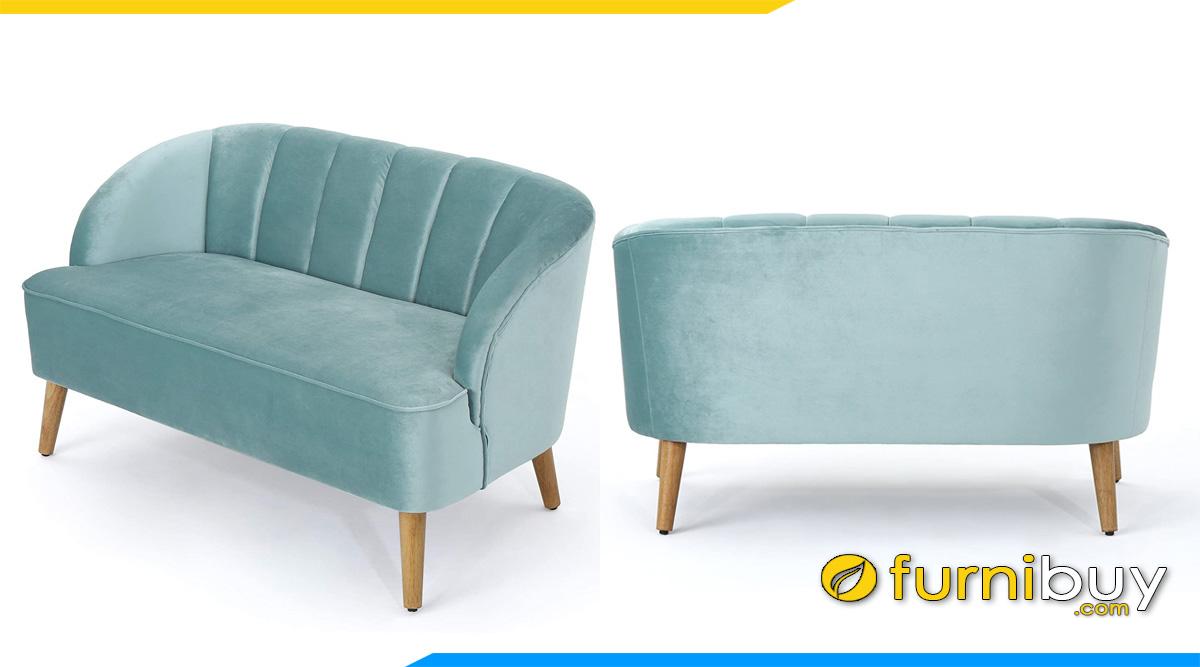 ghe sofa vang nho xinh mau xanh pastel