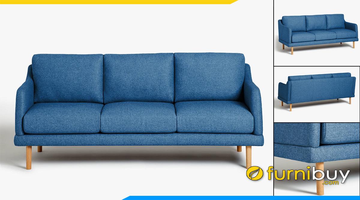 ghe sofa phong khach vang ni mau xanh co ban tre trung