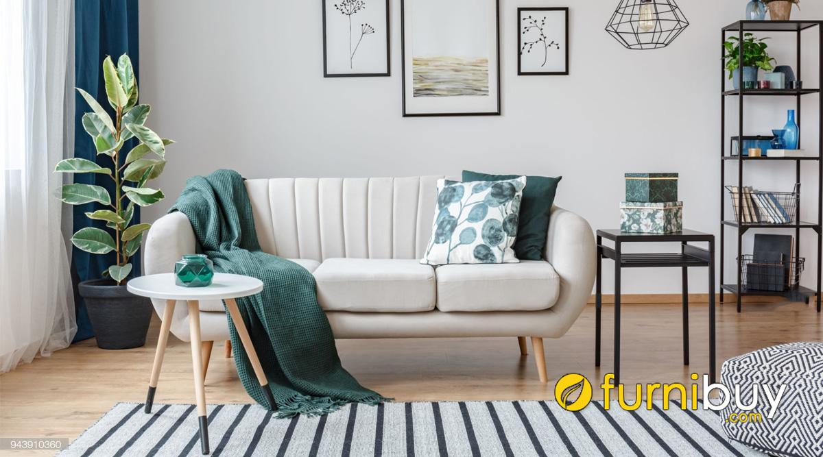ghe sofa vang 3 cho cho noi that phong khach nho