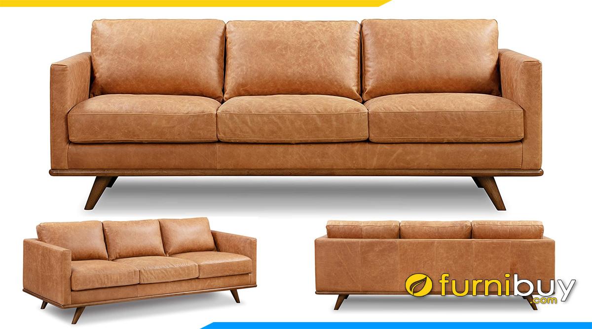 ghe sofa vang da that dang 3 cho ngoi