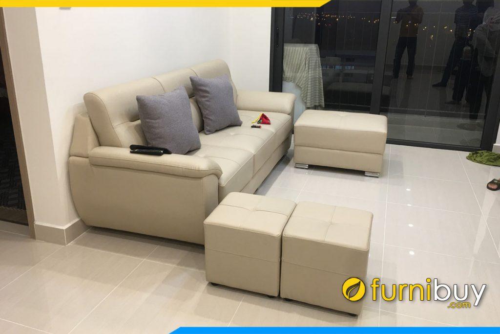 sofa phong khach chung cu dang vang