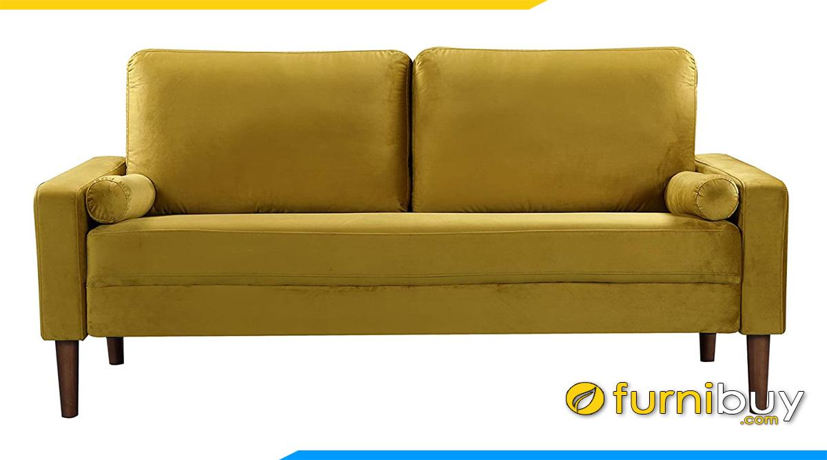 ghe sofa vang mini 2 cho ke phong khach chan go kieu dang vuong