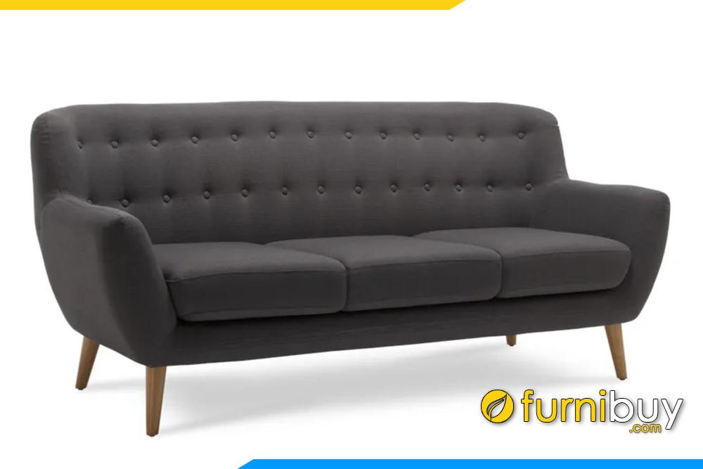 Ghế sofa văng FB20153 với nỉ màu ghi xám rất hiện dại và sạch sẽ với những gia đình có trẻ nhỏ
