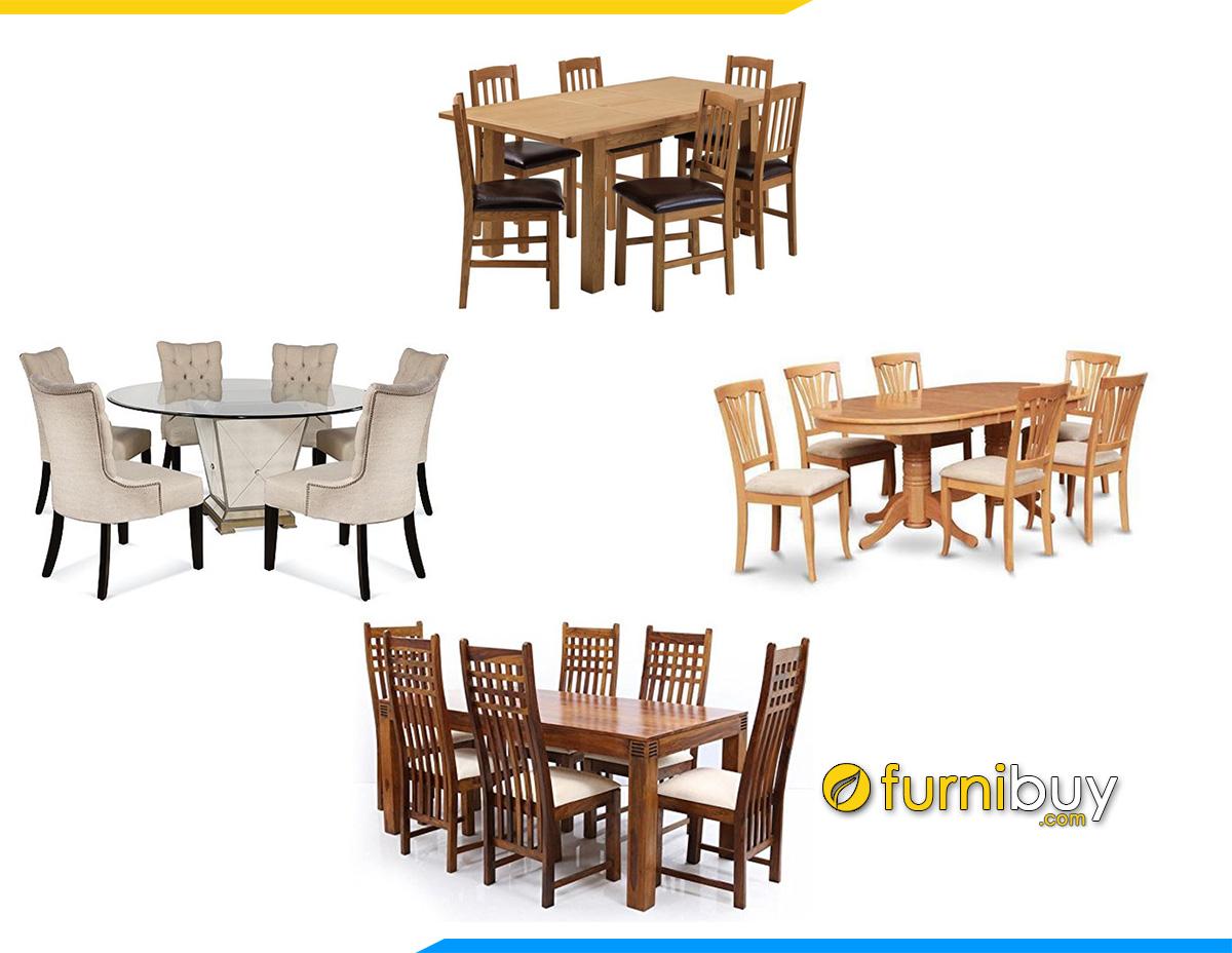 Giá bán bộ bàn ăn 6 ghế bao nhiêu tiền