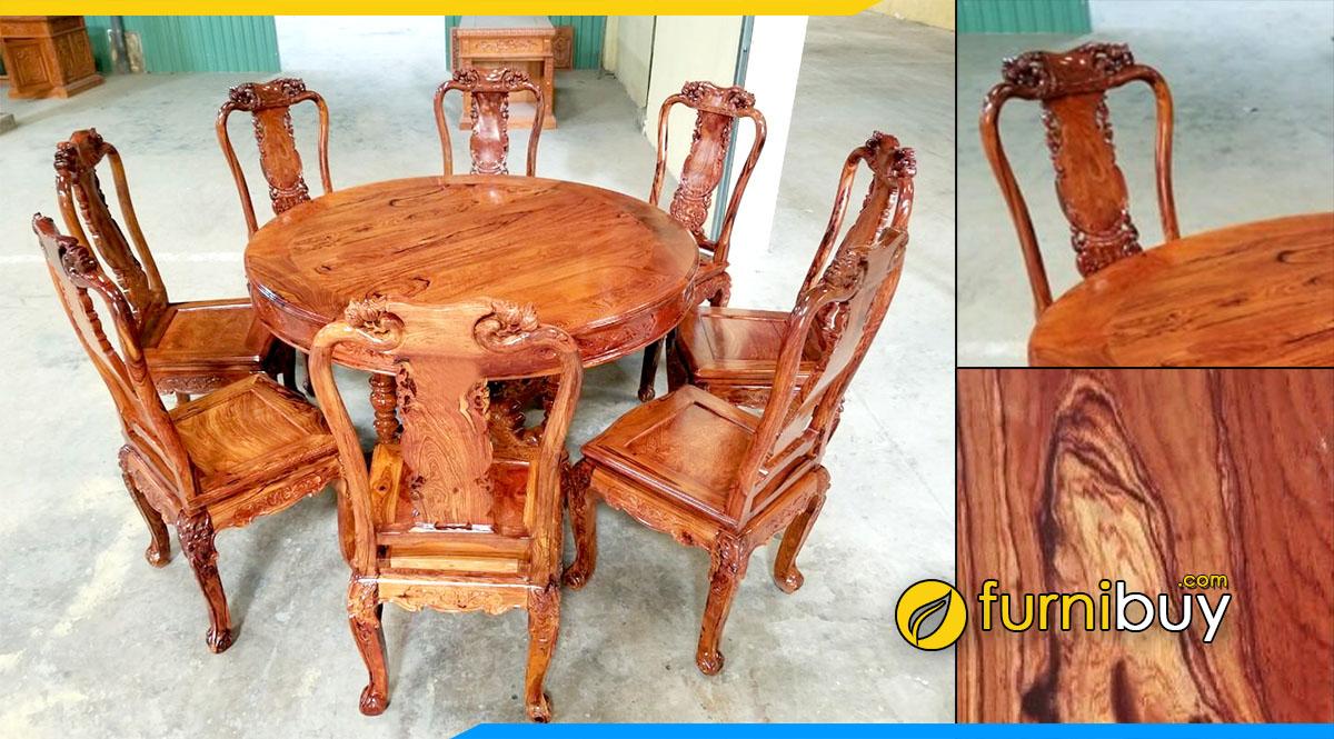 Hình ảnh Bộ bàn ăn 8 ghế gỗ cẩm lai cao cấp
