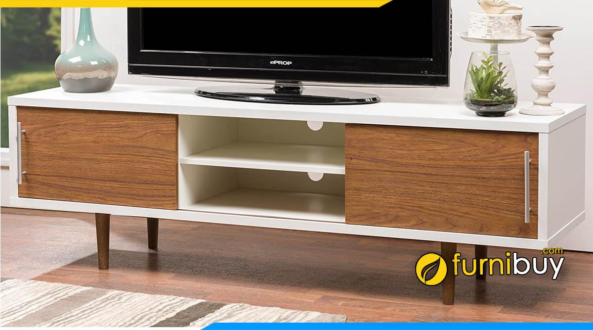 Hình ảnh kệ tivi gỗ MFC công nghiệp giá rẻ 1m8