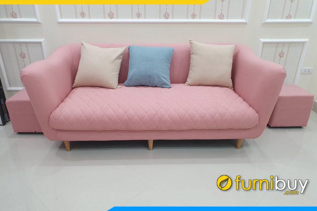 sofa vang ni mau hong ke phong khach