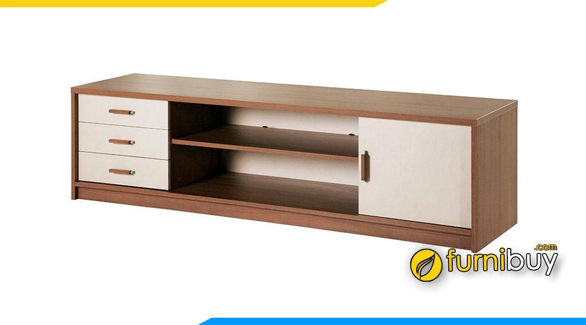 Hình ảnh Mẫu kệ tivi bệt thấp đặt sàn gỗ công nghiệp giá rẻ
