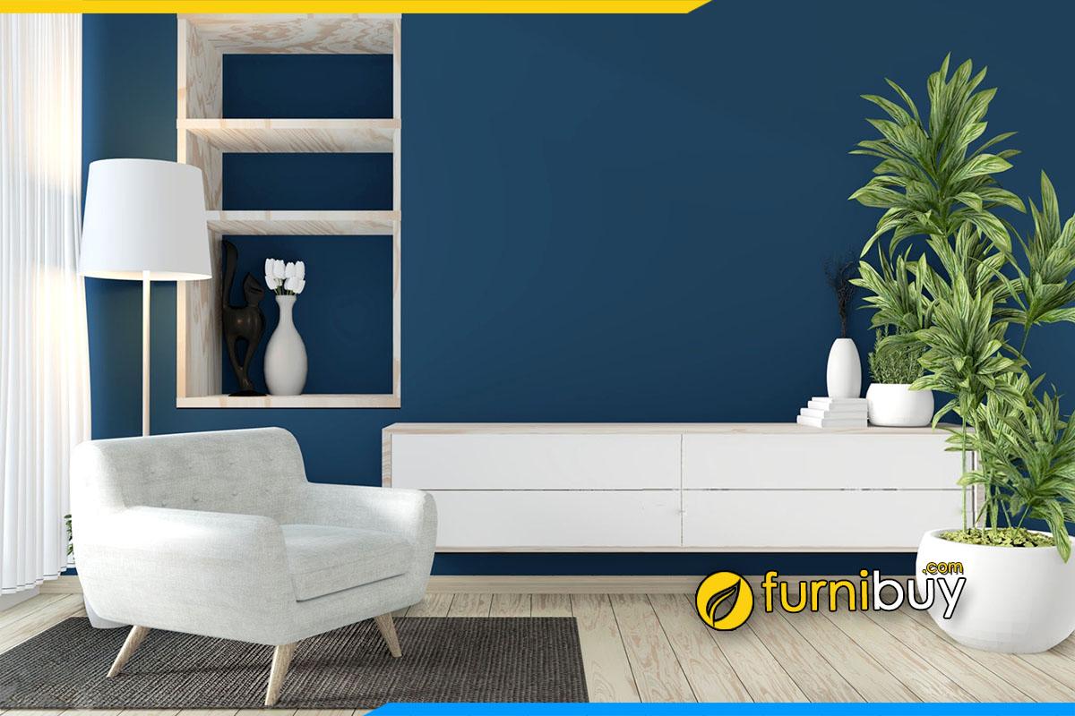 Hình ảnh Kệ tivi đơn giản kết hợp sofa đơn nhỏ mini