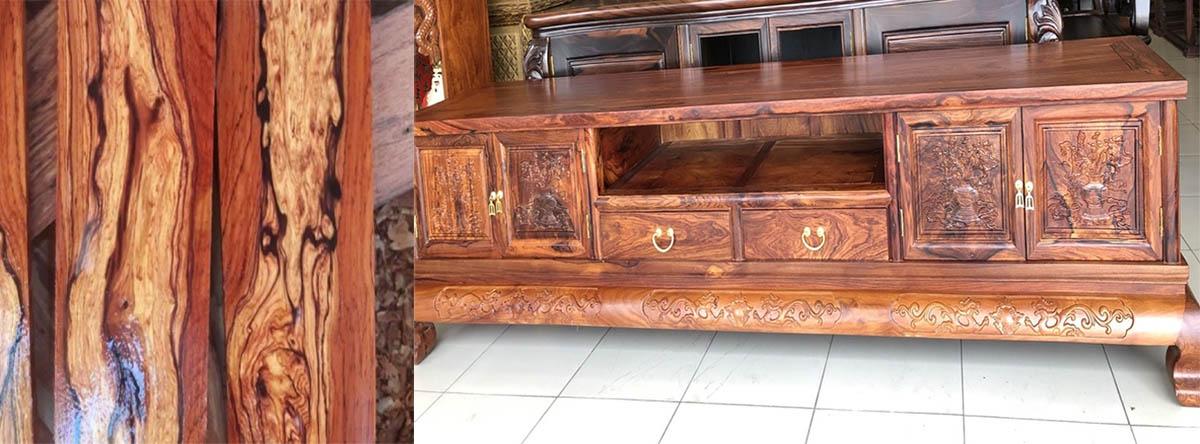 Hình ảnh mẫu kệ tivi gỗ cẩm lai cao cấp