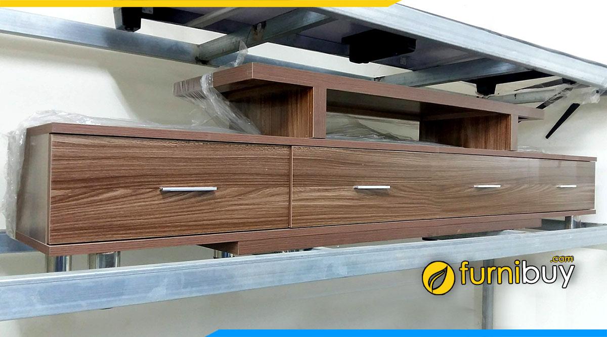 Hình ảnh Mẫu kệ tivi gỗ công nghiệp FBK003 vân sồi giá rẻ