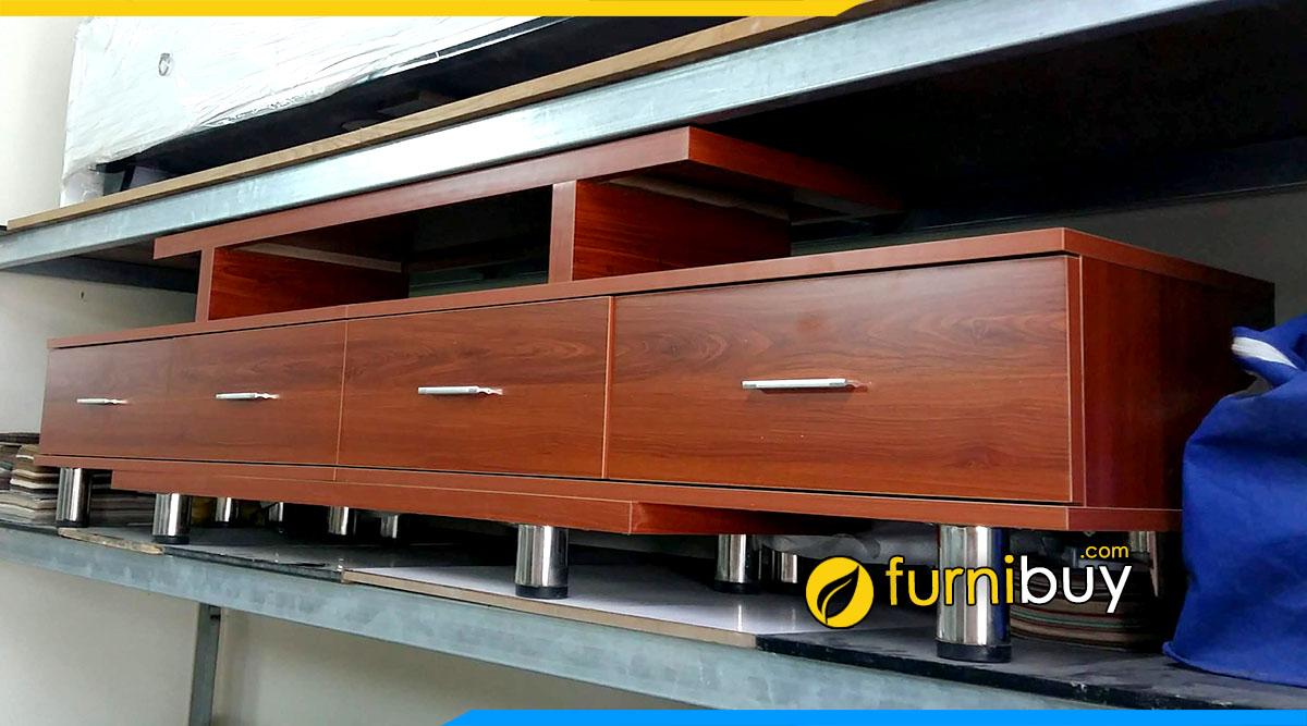 Hình ảnh Mẫu kệ tivi gỗ ép công nghiệp FBK003 sơn màu cánh gián