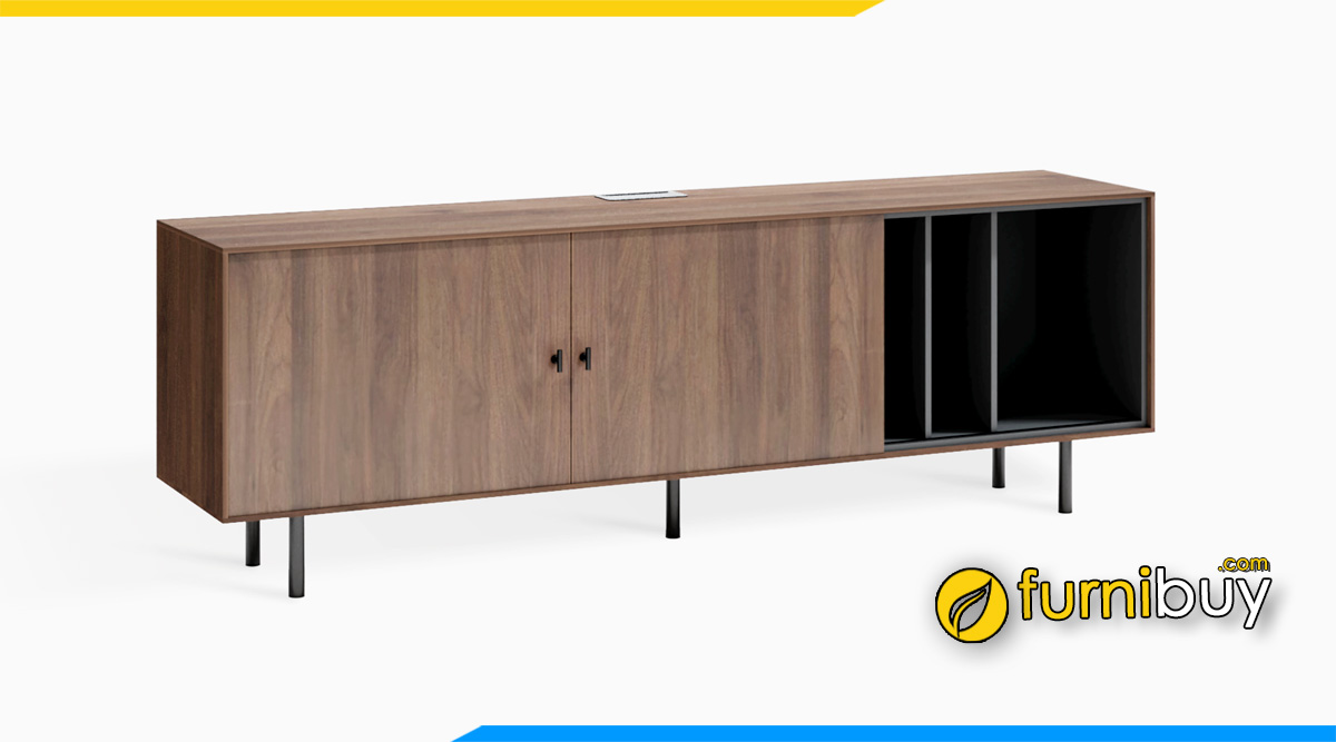 Hình ảnh kệ tivi gỗ MFC công nghiệp giá rẻ chân Inox cao
