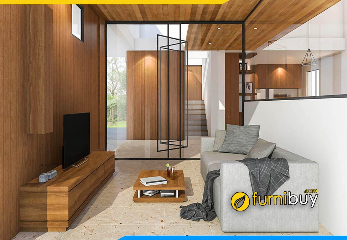 Hình ảnh Kệ tivi gỗ phòng khách đẹp hiện đại