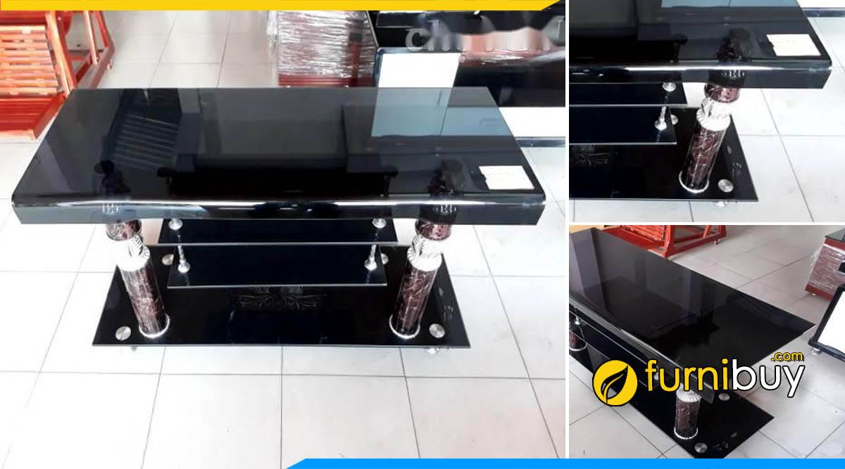 Hình ảnh kệ tivi kính cường lực 1m2 giá rẻ màu đen