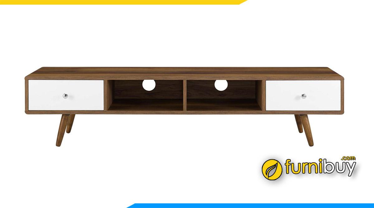 Hình ảnh Mẫu kệ tivi siêu mỏng gỗ công nghiệp hiện đại