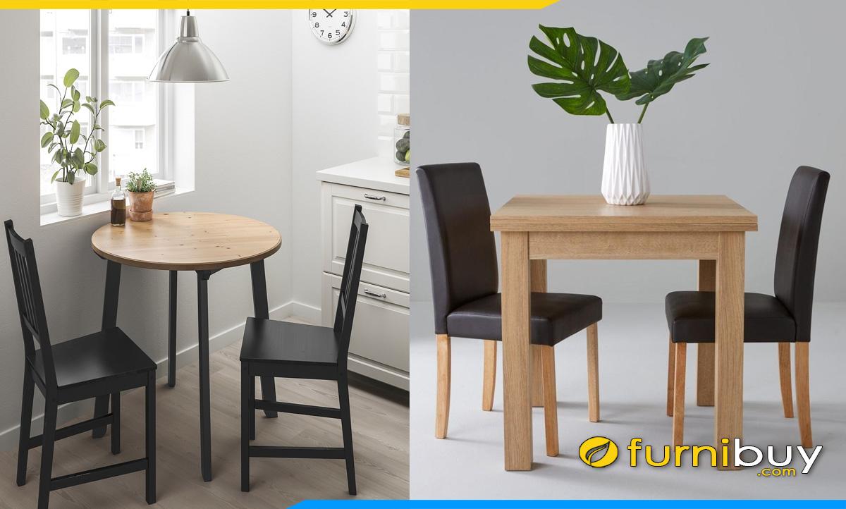 Kích thước bàn ăn 2 ghế theo tiêu chuẩn