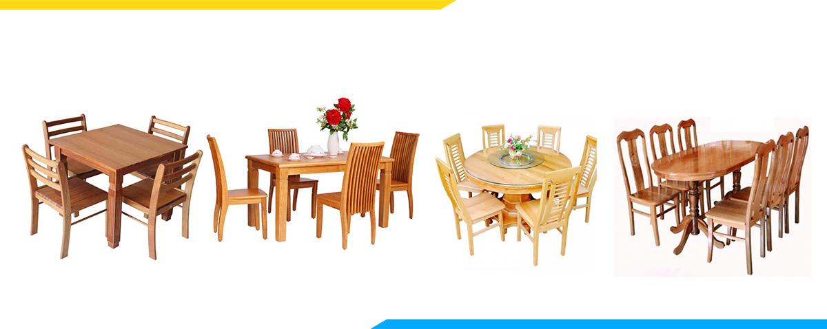 Kích thước bàn ghế ăn tiêu chuẩn bao nhiêu
